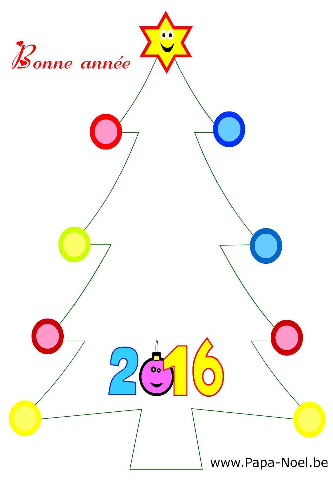 Coloriage De Carte Bonne Année 2016 Fabriquer Faire Cartes pour Carte De Bonne Année Gratuite A Imprimer