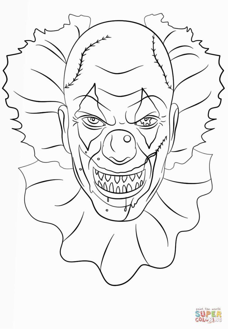 Coloriage De Clown Tueur A Imprimer | Palhaços 157, Palhaço avec Dessin De Clown En Couleur
