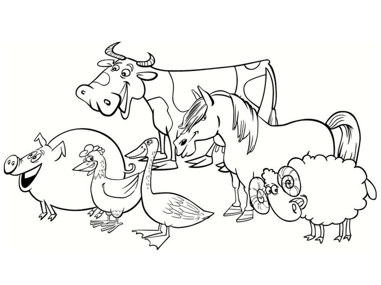 Coloriage De Ferme À Imprimer Pour Enfants - Coloriage Sur pour Animaux De La Ferme A Imprimer