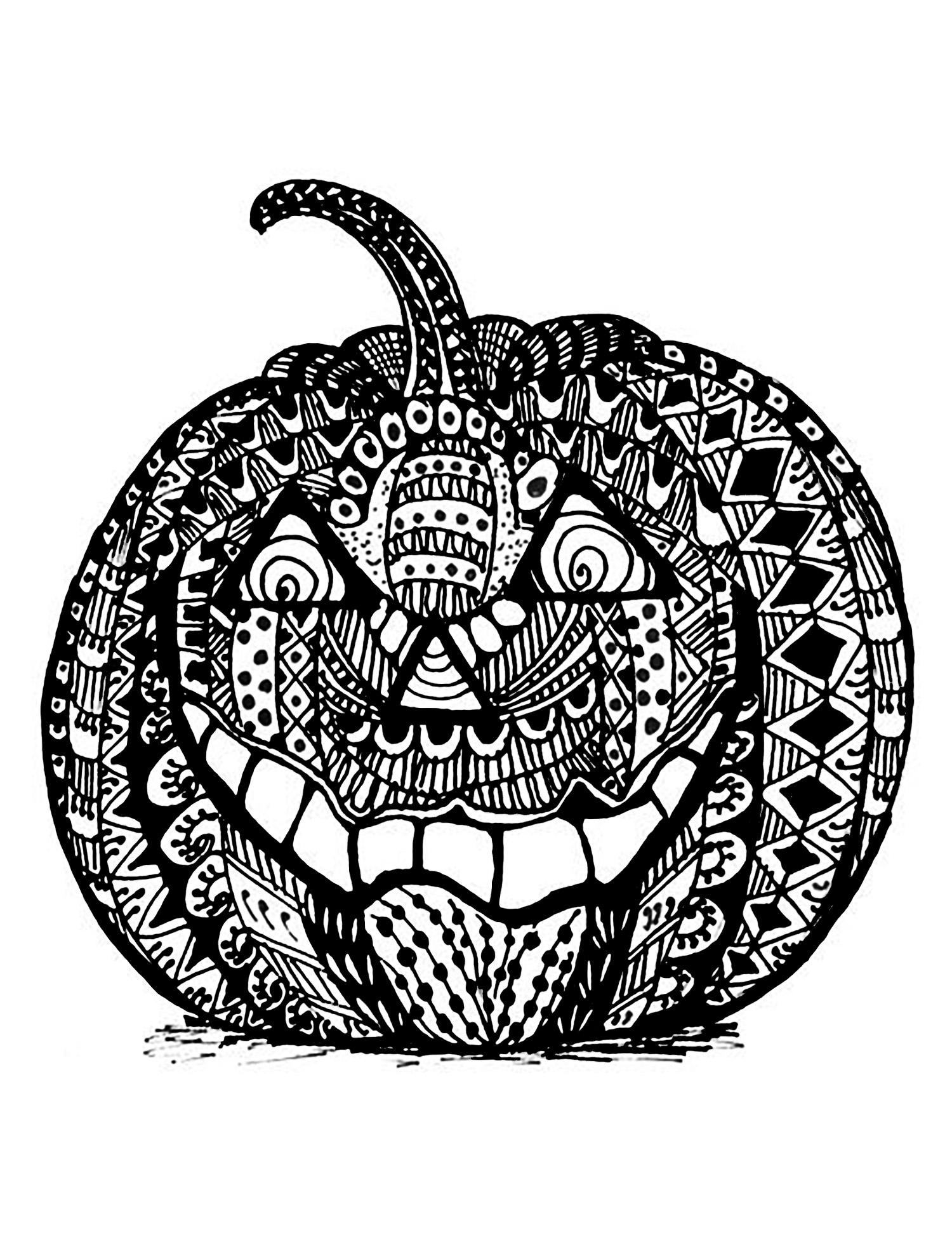 Coloriage De Halloween Gratuit À Colorier - Coloriage pour Dessin Halloween Citrouille A Imprimer Gratuit