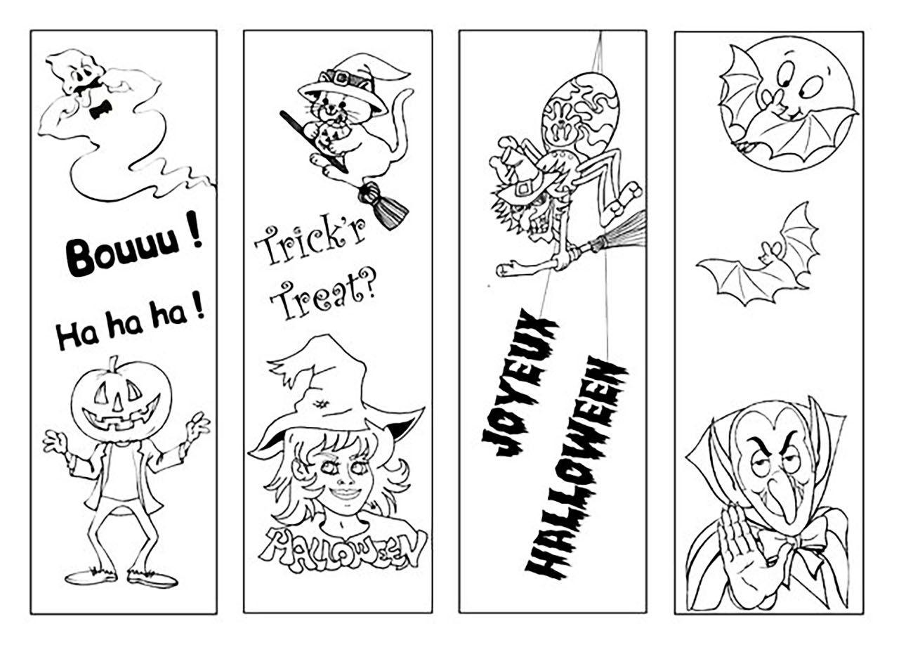 Coloriage De Halloween Pour Enfants - Coloriage Halloween destiné Marque Page À Colorier