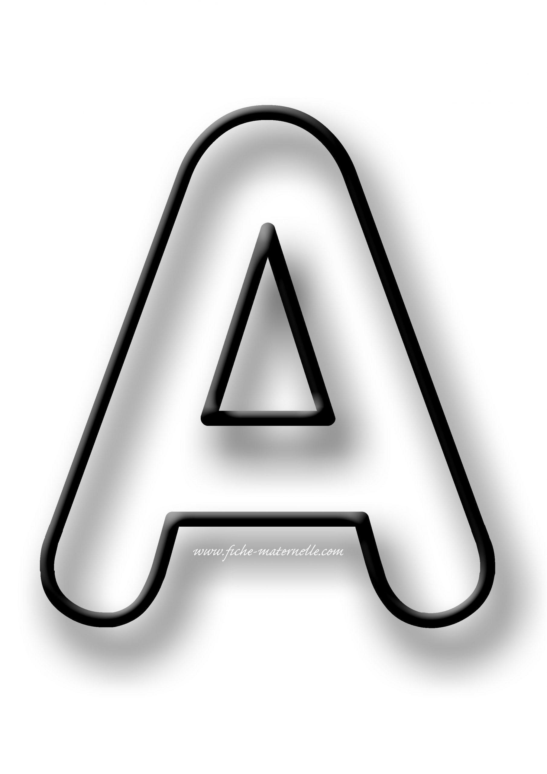 Coloriage De La Lettre A Et Des Autres Lettres De L'alphabet intérieur Coloriage D Alphabet