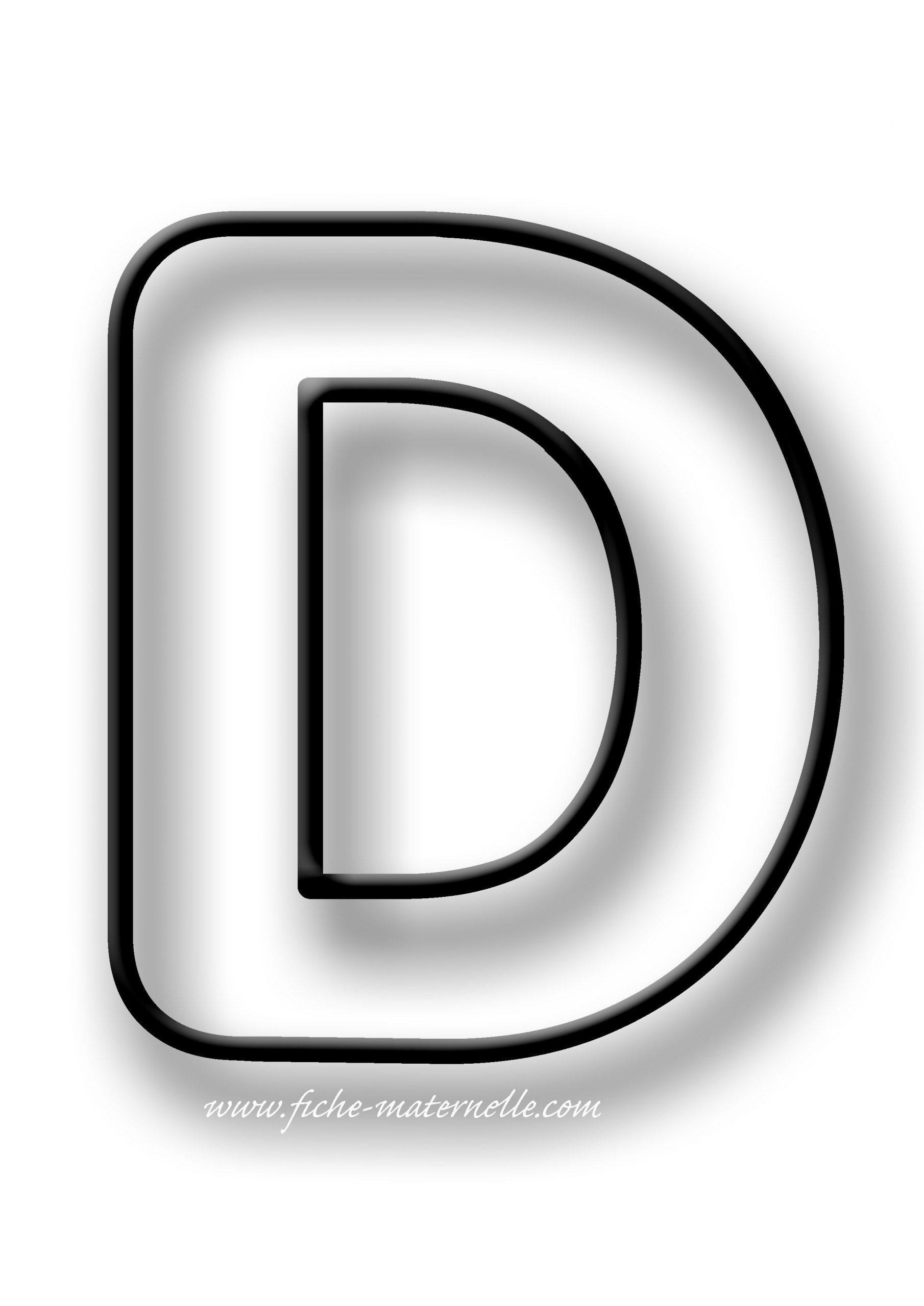 Coloriage De La Lettre D | Alphabet À Colorier, Lettre A destiné Coloriage D Alphabet