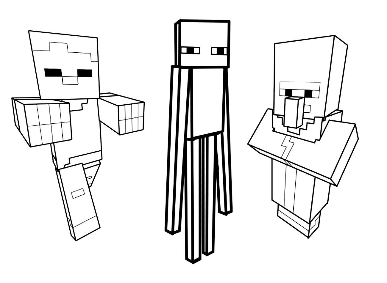 Coloriage De Minecraft À Colorier Pour Enfants - Coloriage encequiconcerne Jeux De Personnage Gratuit