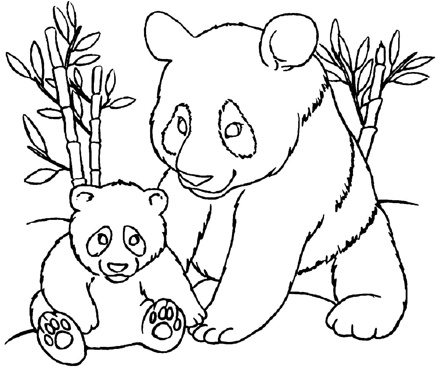 Coloriage De Panda À Imprimer Pour Enfants - Coloriage De à Dessin Facile Pour Enfant