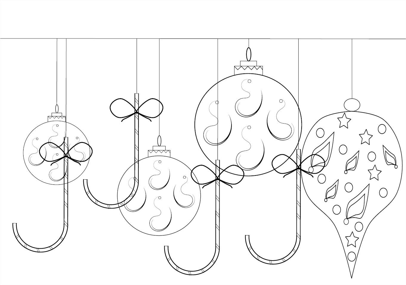 Coloriage Décoration De Noël À Imprimer Et Colorier serapportantà Décorations De Noel À Imprimer