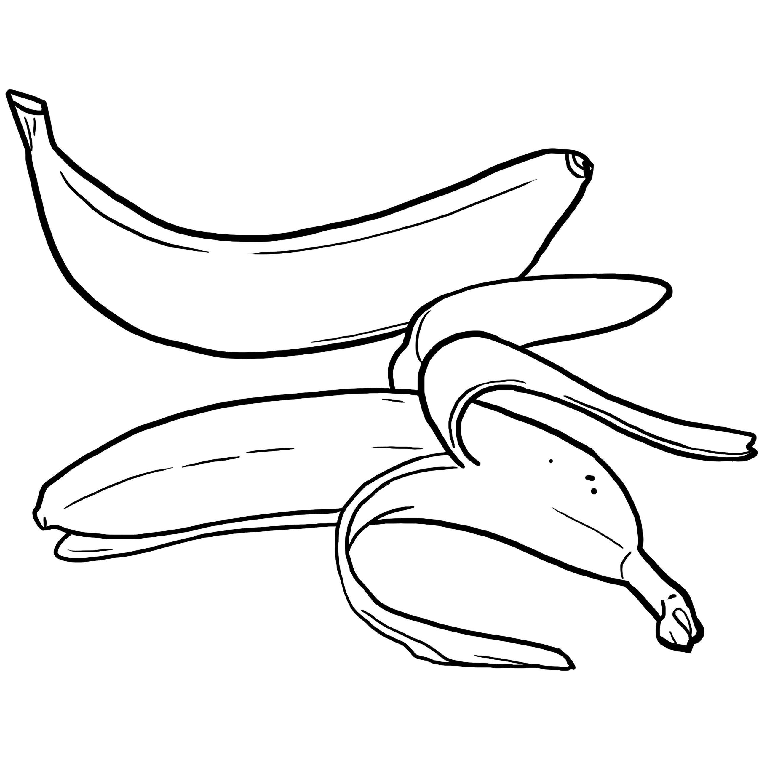 Coloriage Des Aliments : La Banane | Coloriage, Coloriage concernant Dessiner Une Banane