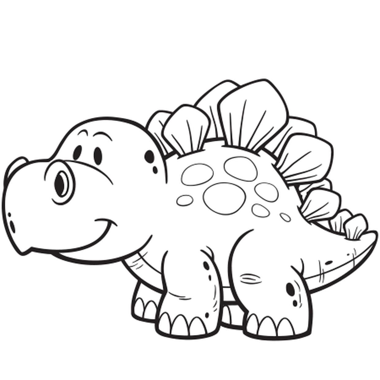 Coloriage Dinosaure Facile En Ligne Gratuit À Imprimer serapportantà Apprendre A Dessiner Des Animaux Facilement Et Gratuitement