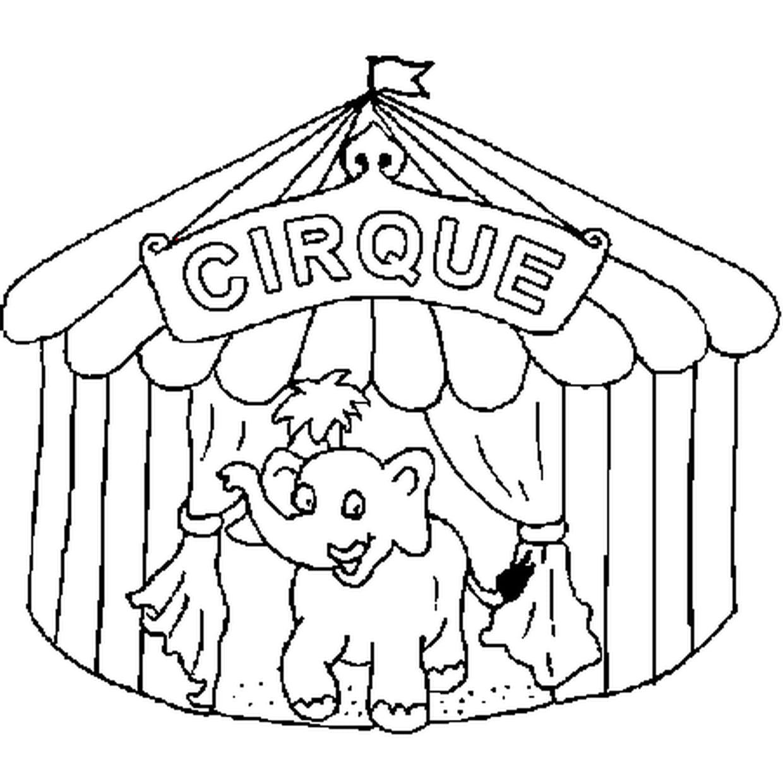 Coloriage Du Cirque En Ligne Gratuit À Imprimer à Coloriage Cirque Maternelle