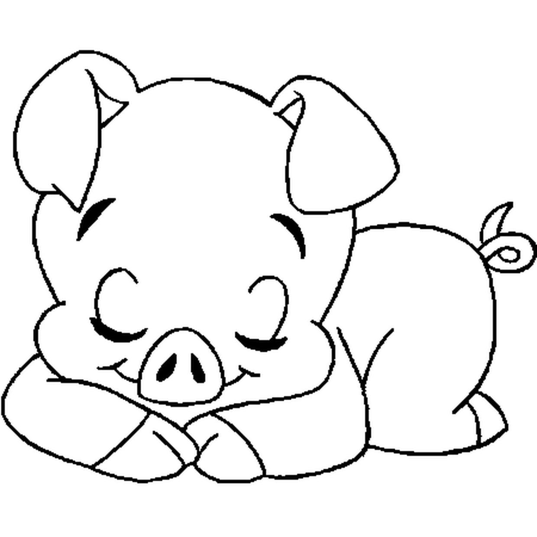 Coloriage Du Cochon En Ligne Gratuit À Imprimer serapportantà Dessin À Colorier Cochon