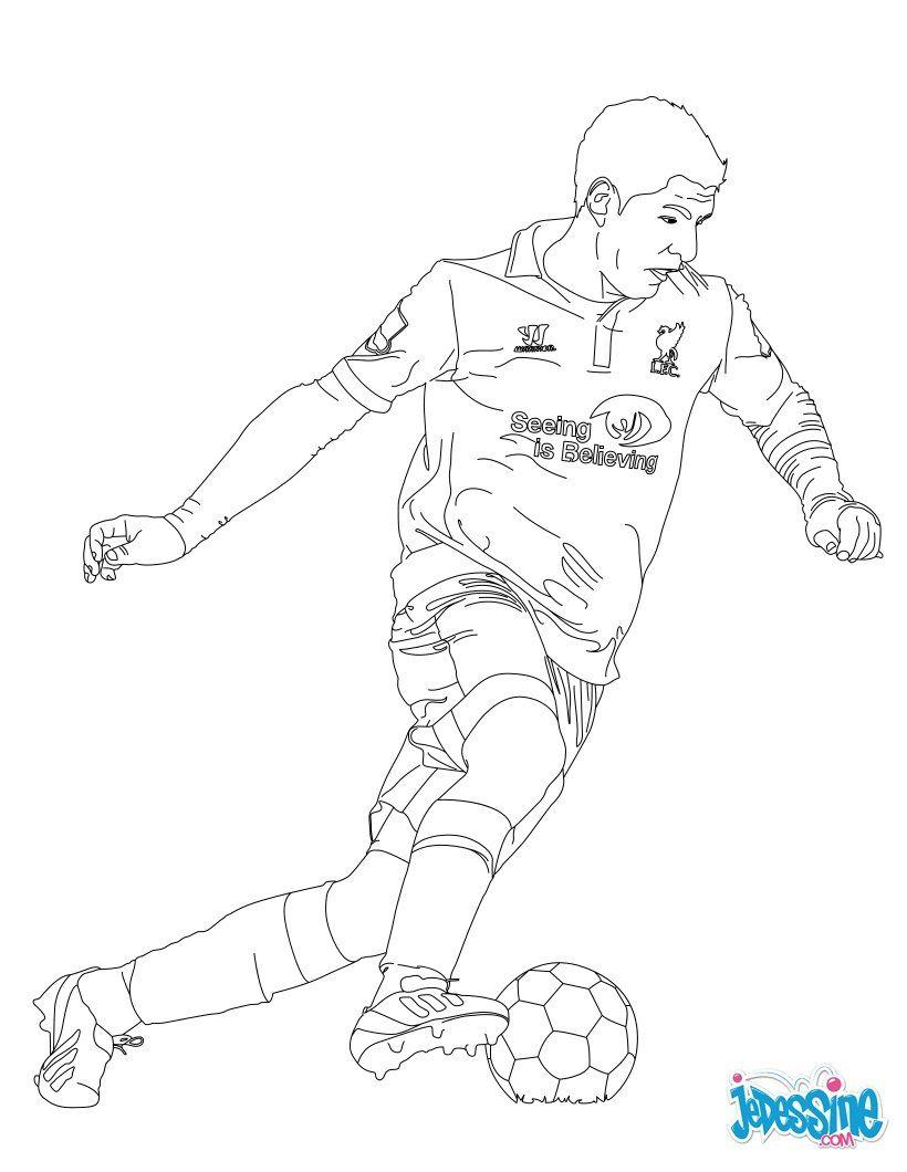 Coloriage Du Joueur De Foot Luis Suarez. À Imprimer concernant Coloriage De Foot En Ligne