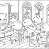 Coloriage Du Professeur Ours Qui Fait Classe Aux Enfants De destiné Coloriage Classe Maternelle