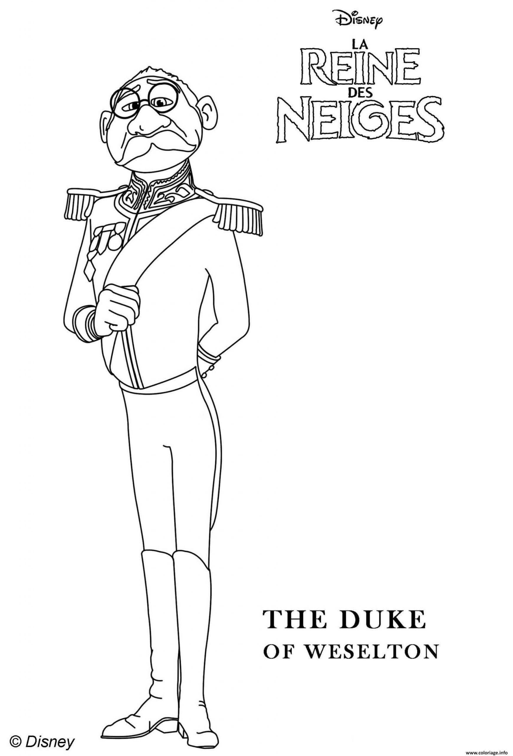 Coloriage Duke Of Weselton La Reine Des Neiges 2 Dessin intérieur Reine Des Neiges Dessin À Colorier