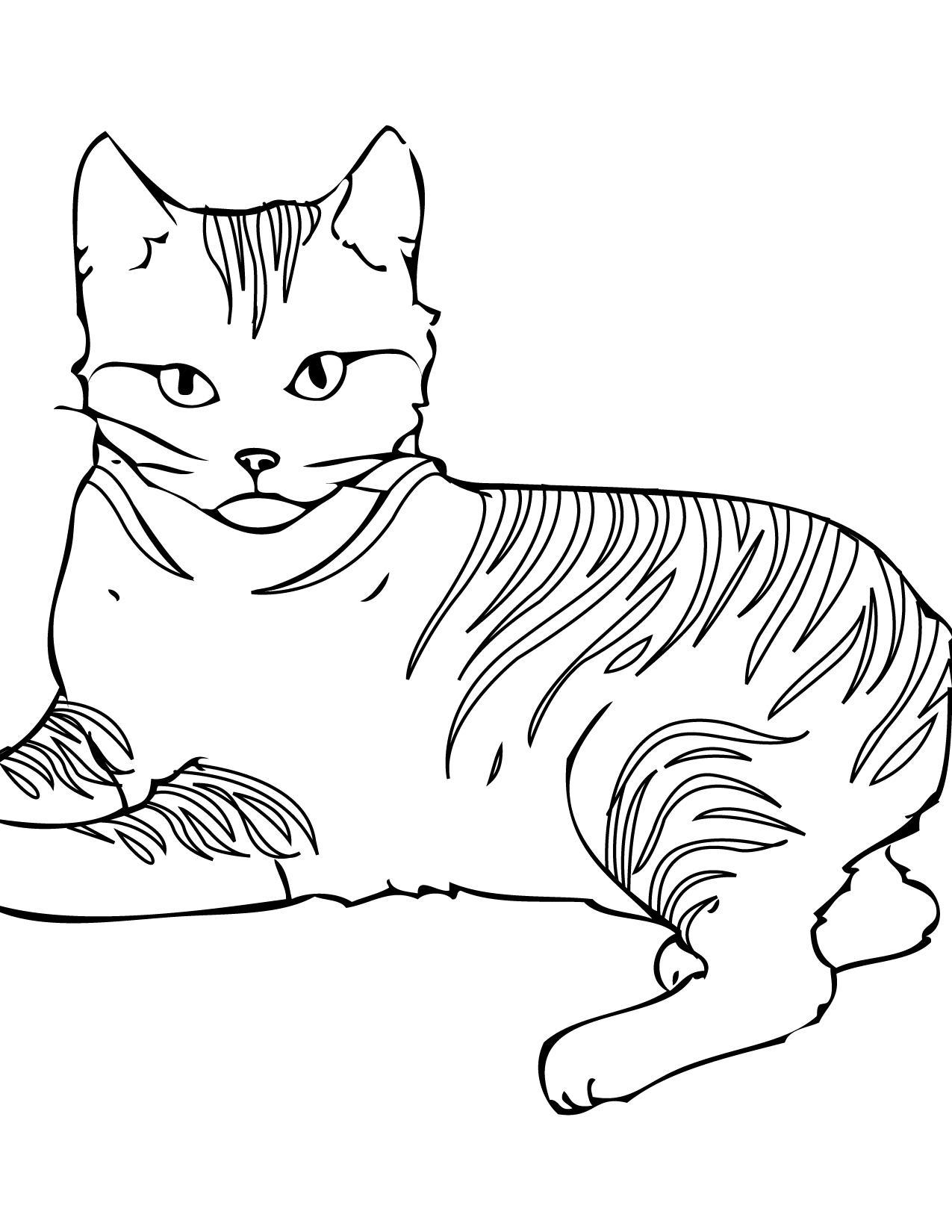 Coloriage En Ligne De Chats - 1001 Animaux avec Coloriage De Chat En Ligne