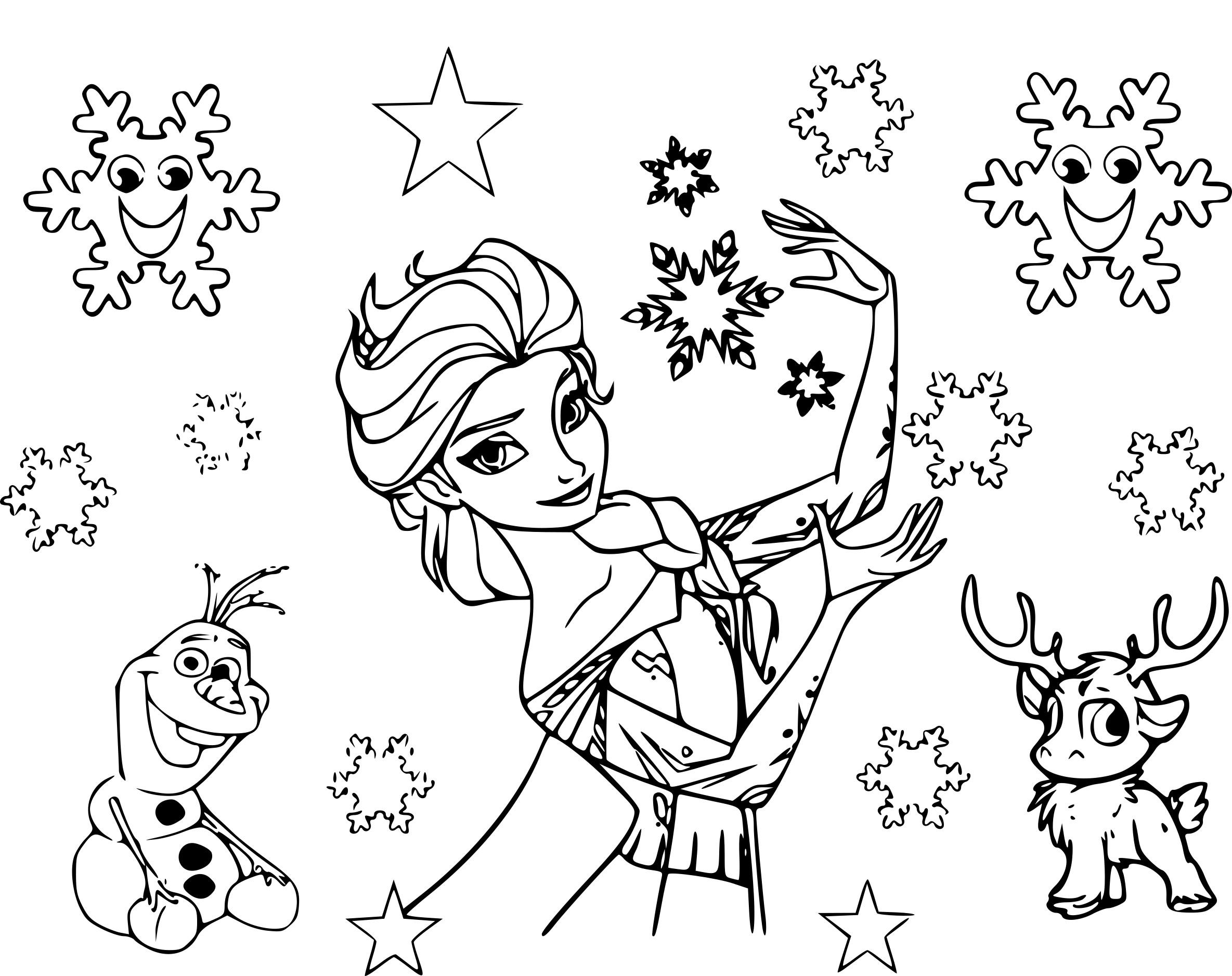 Coloriage Etoile Reine Des Neiges À Imprimer Sur Coloriages concernant Reine Des Neiges Dessin À Colorier