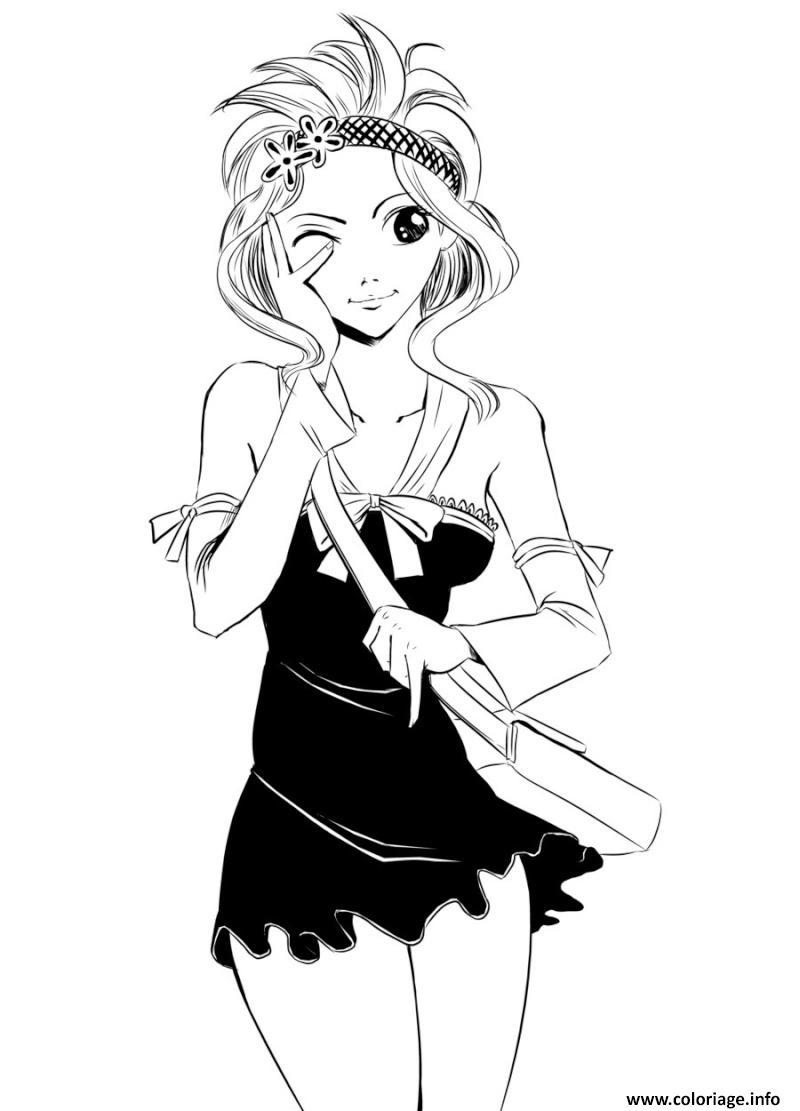 Coloriage Fairy Tail Levy En Mode Seduction Dessin tout Coloriage Mode À Imprimer