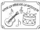 Coloriage Fete De La Musique destiné Activité Musicale Maternelle