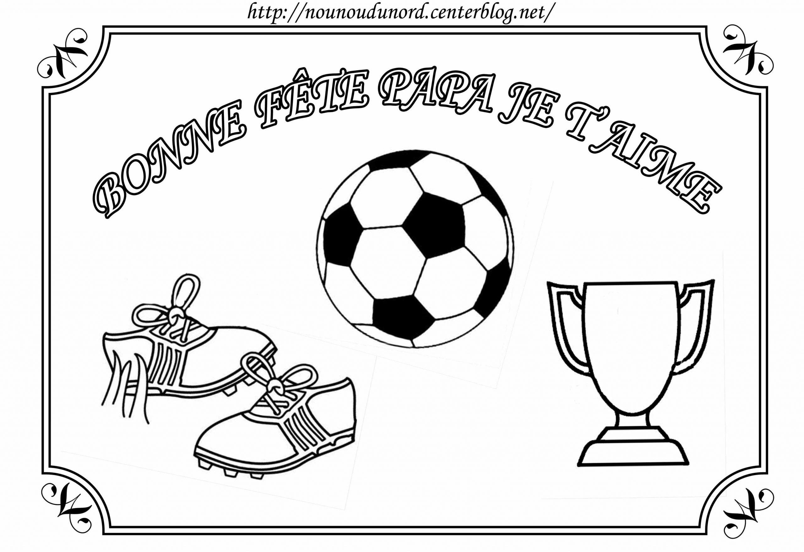 Coloriage Foot Pour La Fête Des Pères Par Nounoudunord destiné Coloriage De Foot En Ligne