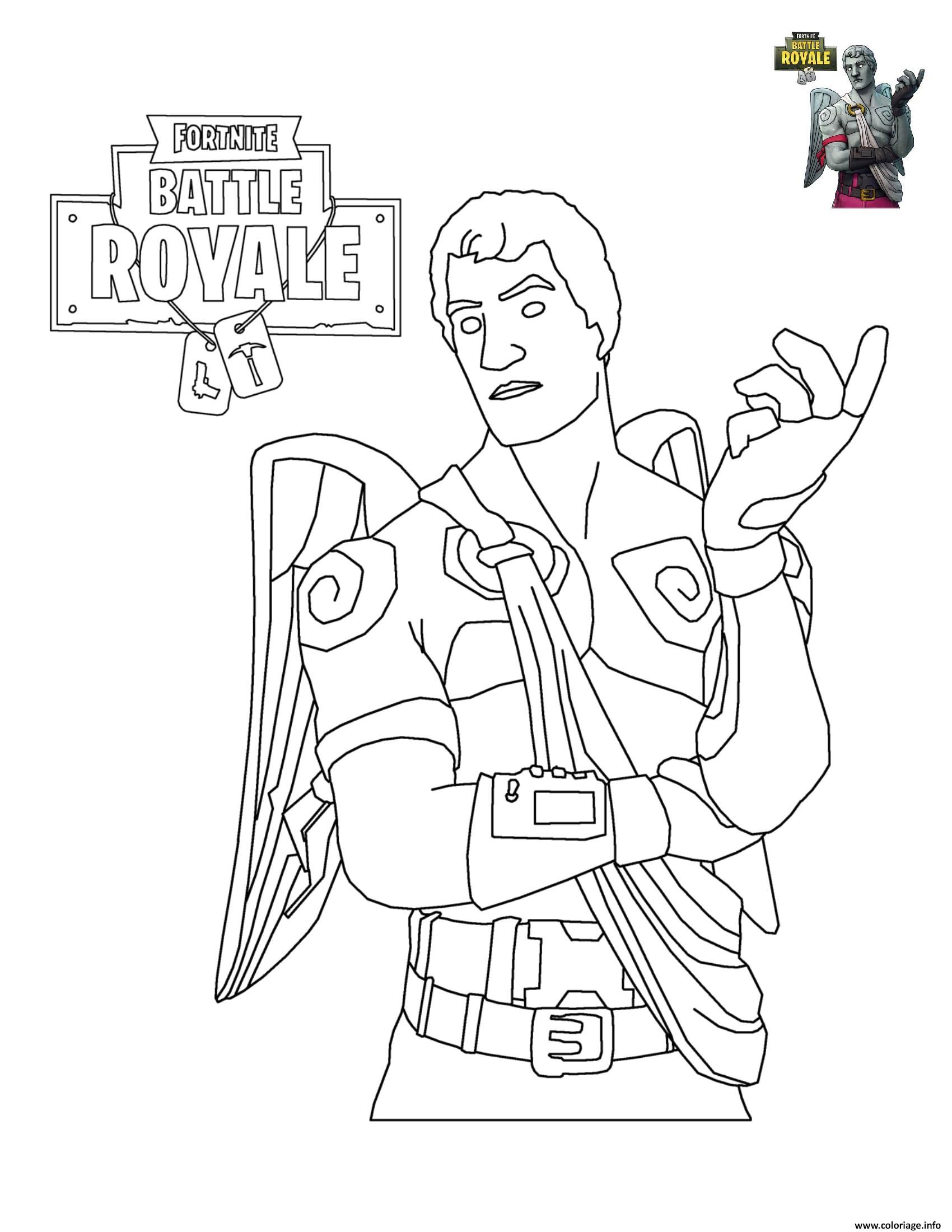 Coloriage Fortnite Battle Royale Personnage 6 Dessin destiné Personnage À Colorier