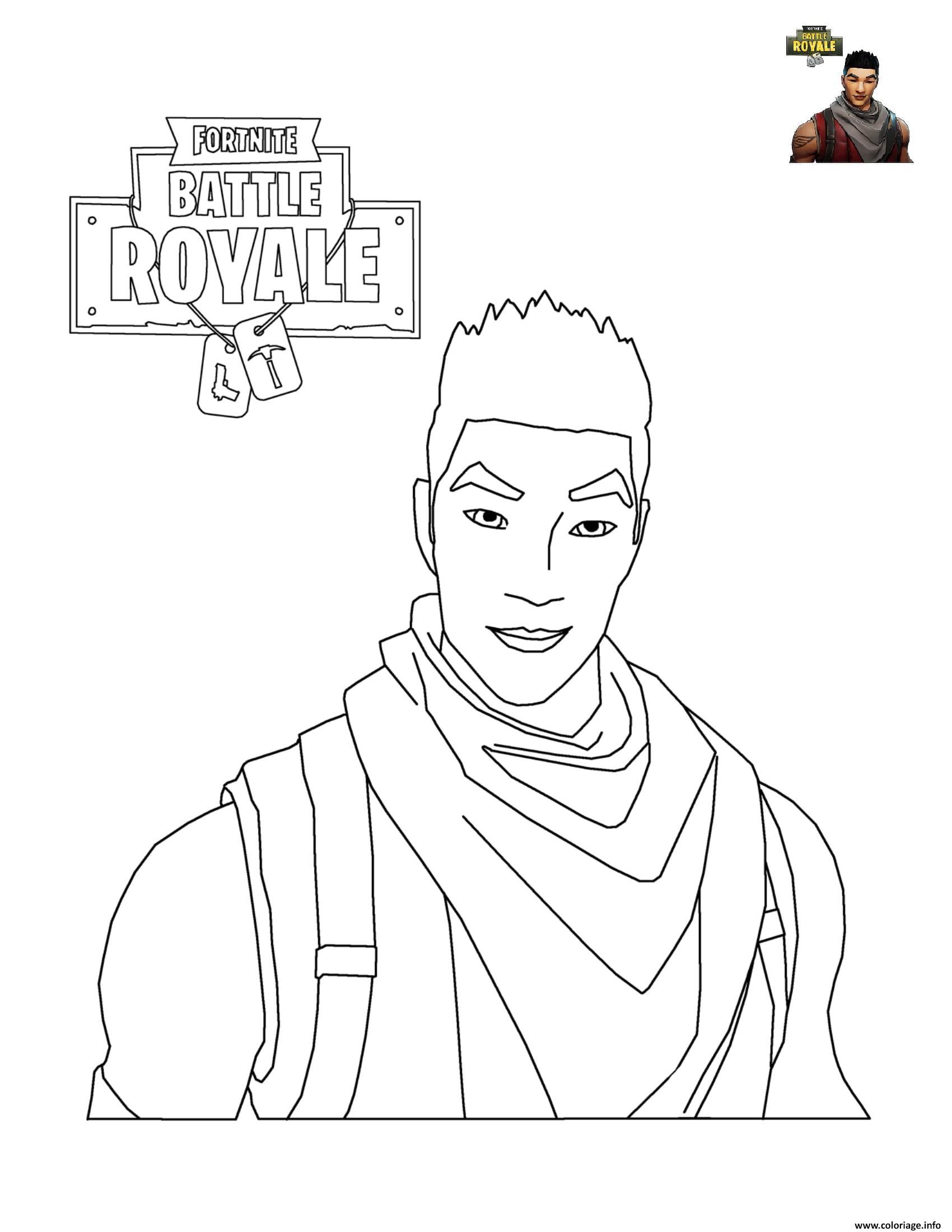 Coloriage Fortnite Battle Royale Personnage Dessin dedans Personnage À Colorier