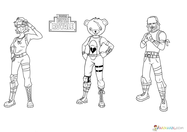 Coloriage Fortnite. Imprimer Les Héros Du Jeu pour Coloriage De Mode À Imprimer