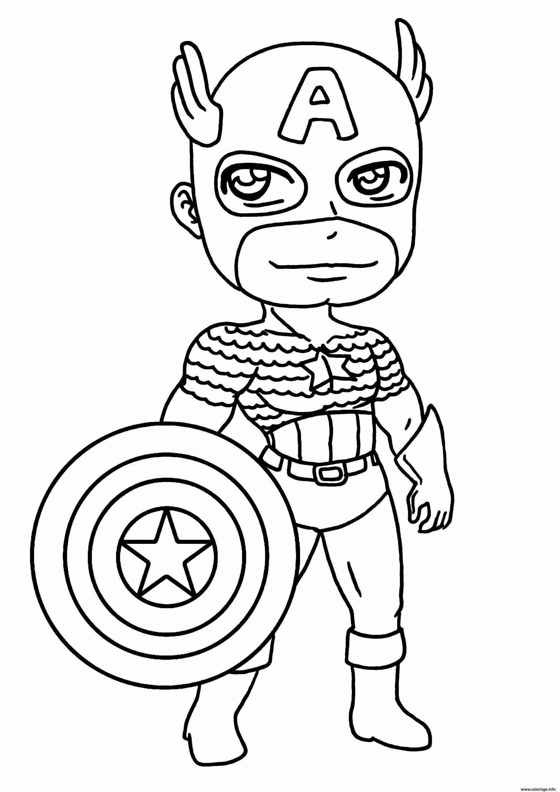 Coloriage Garcon Super Heros Capitaine America Dessin serapportantà Coloriage À Imprimer Garçon
