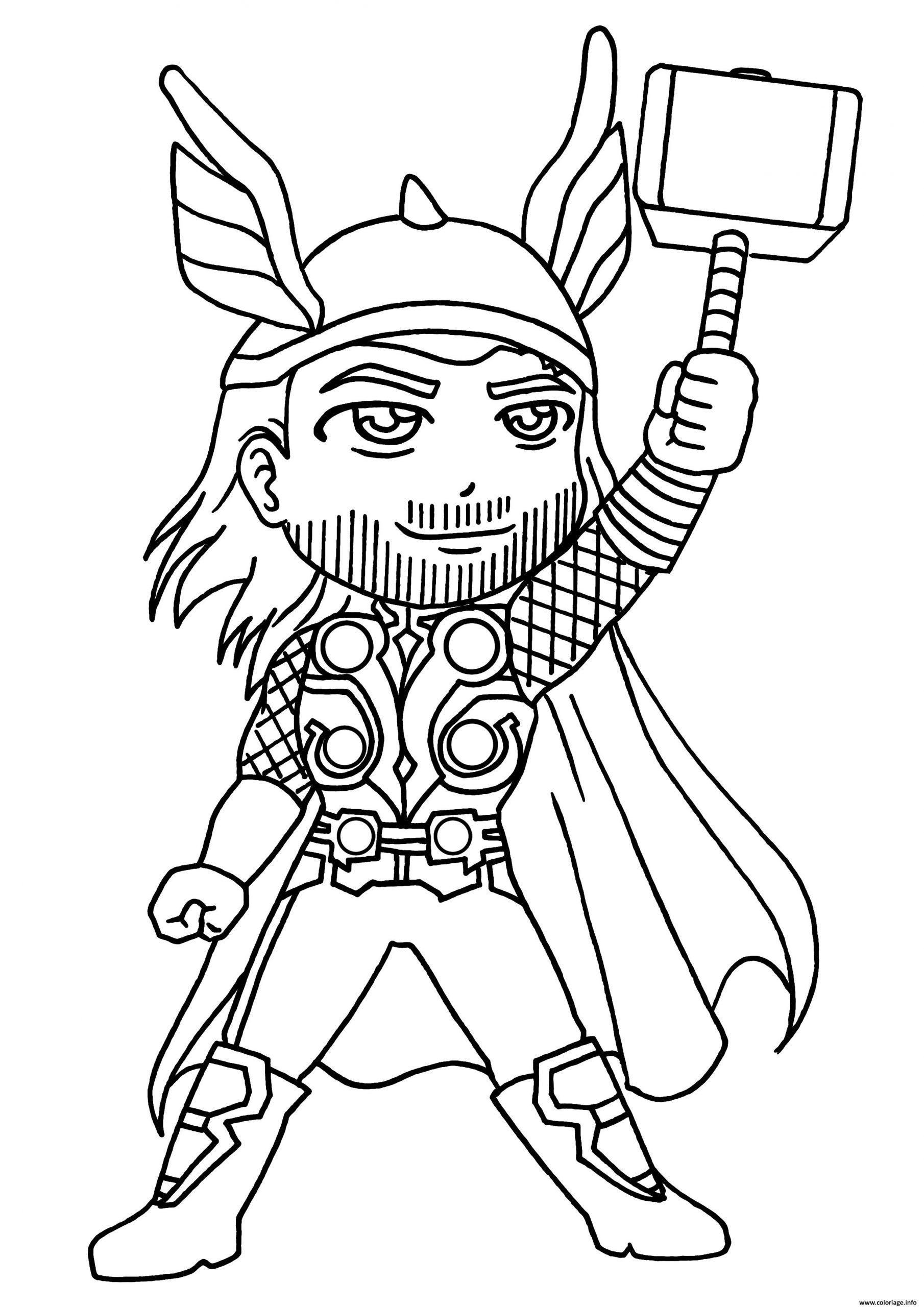 Coloriage Garcon Super Heros Thor Dessin destiné Coloriage À Imprimer Garçon
