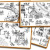 Coloriage Géant De Noël: Le Village En Hiver | Bdrp tout Coloriage Village De Noel
