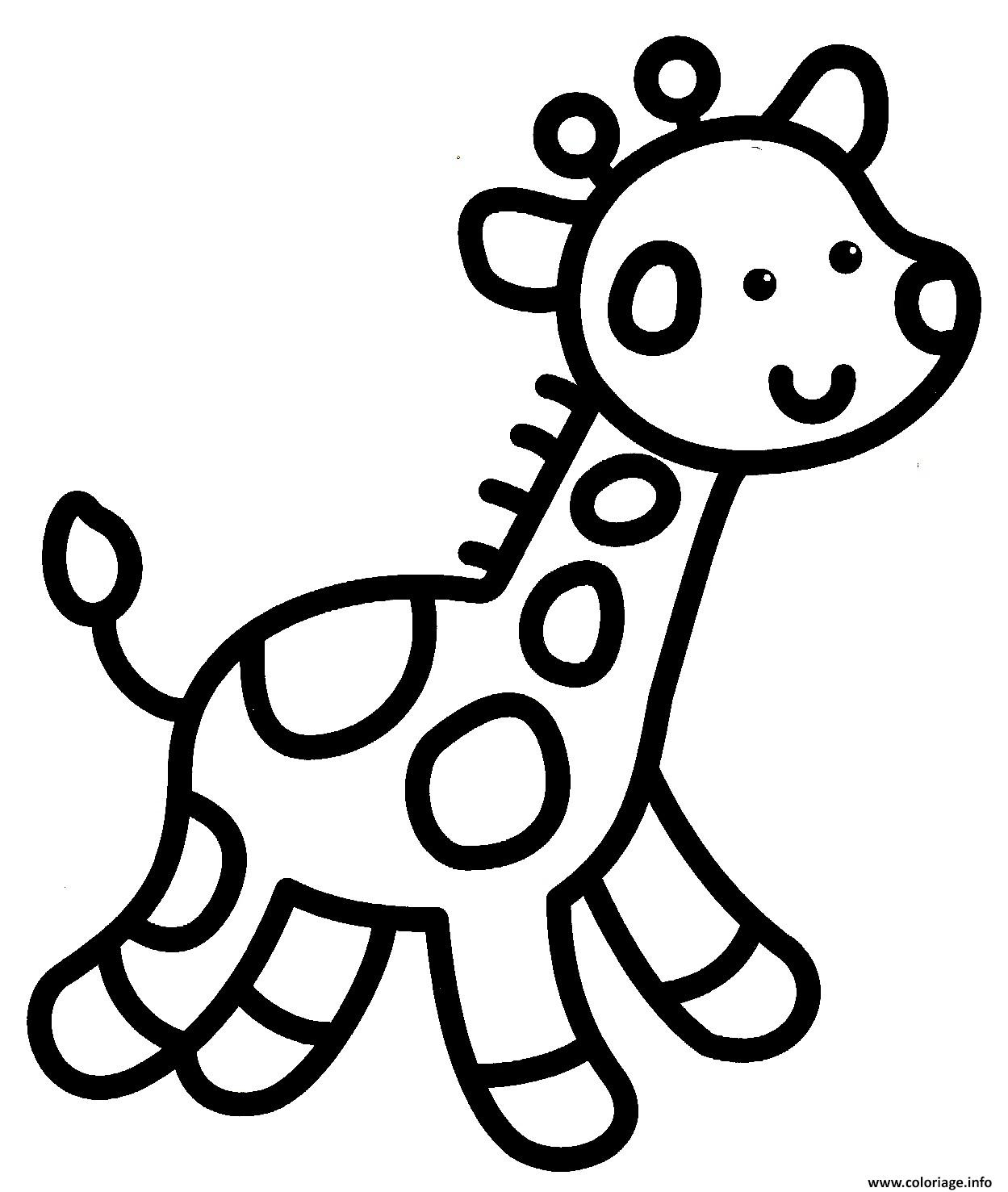 Coloriage Giraffe Facile Enfant Maternelle Dessin pour Dessin Facile Pour Enfant