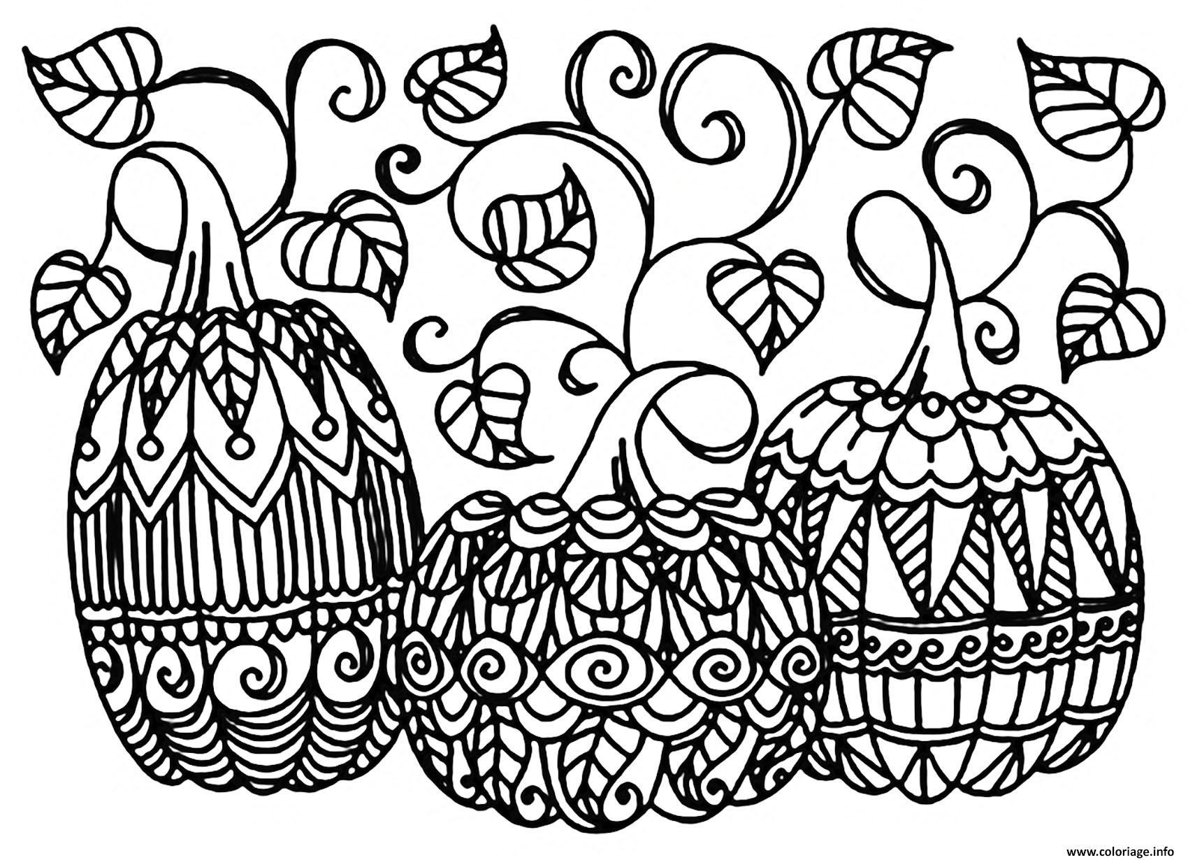 Coloriage Halloween Trois Citrouilles Dessin intérieur Dessin Halloween Citrouille A Imprimer Gratuit