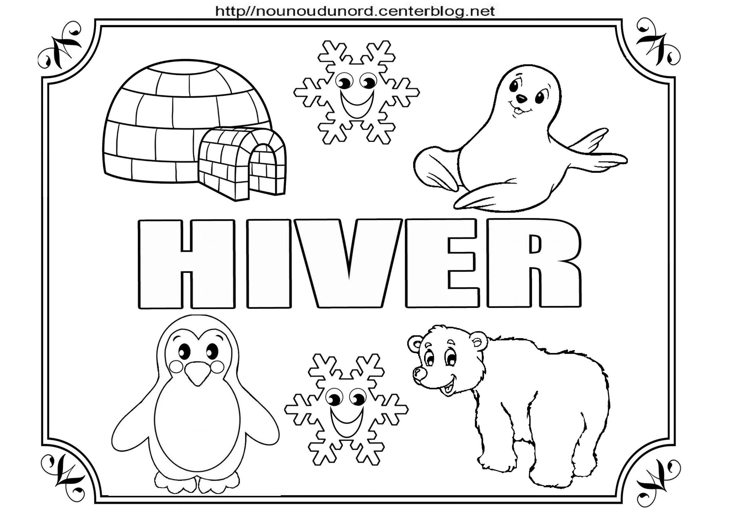 Coloriage Hiver à Coloriage Hiver Maternelle
