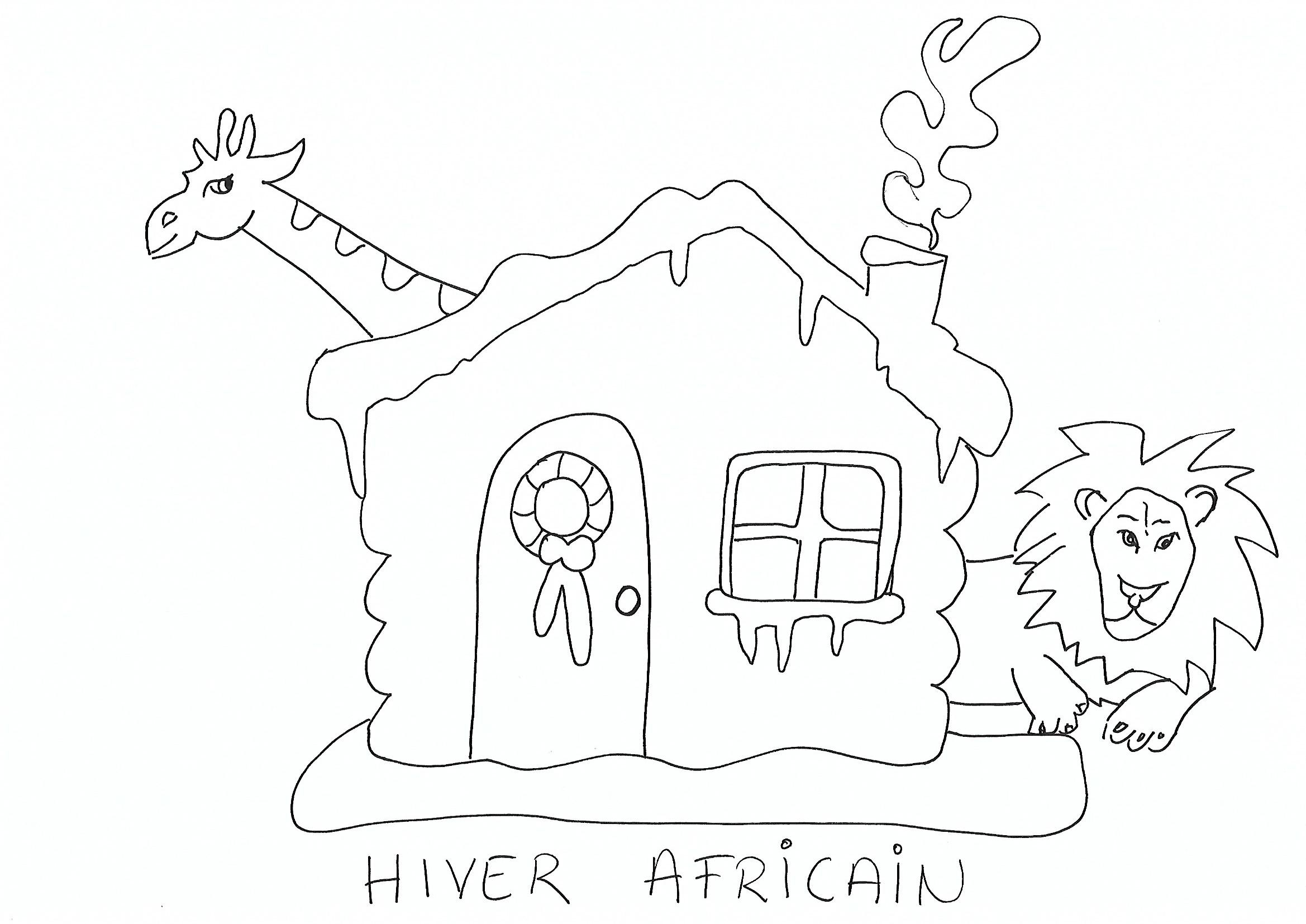 Coloriage Hiver Africain - Afrocaneo - Carrefour Culturel intérieur Coloriage Hiver Maternelle