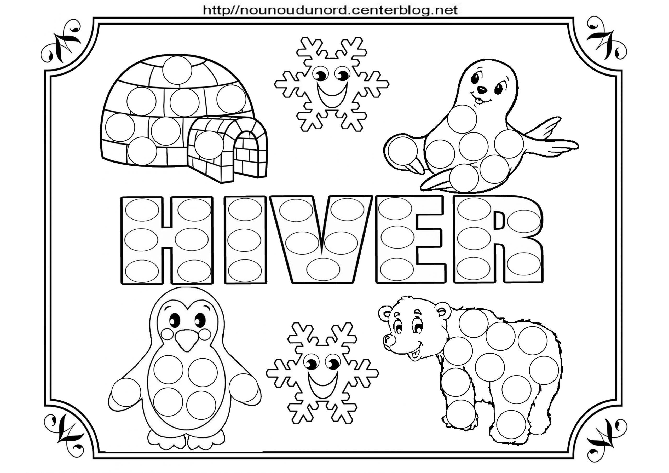 Coloriage Hiver | Coloriage Hiver, Bricolage Hiver avec Coloriage Hiver Maternelle