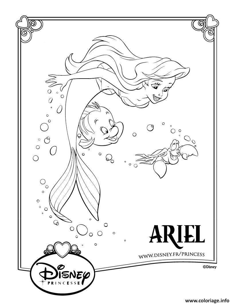 Coloriage La Petite Sirene Disney Princesse Dessin destiné Coloriage Princesse Sirene
