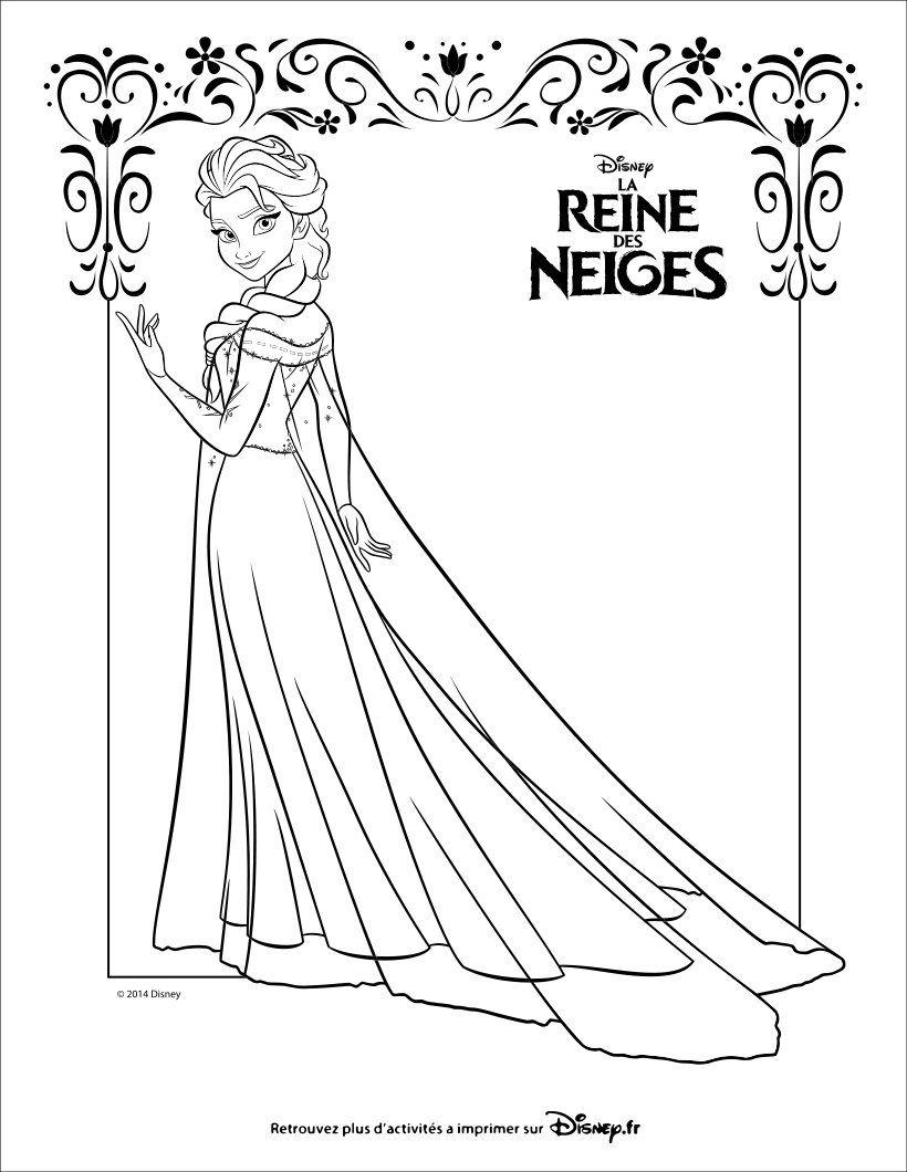 Coloriage : La Reine Des Neiges, Elsa | Coloriage Reine Des avec Reine Des Neiges Dessin À Colorier