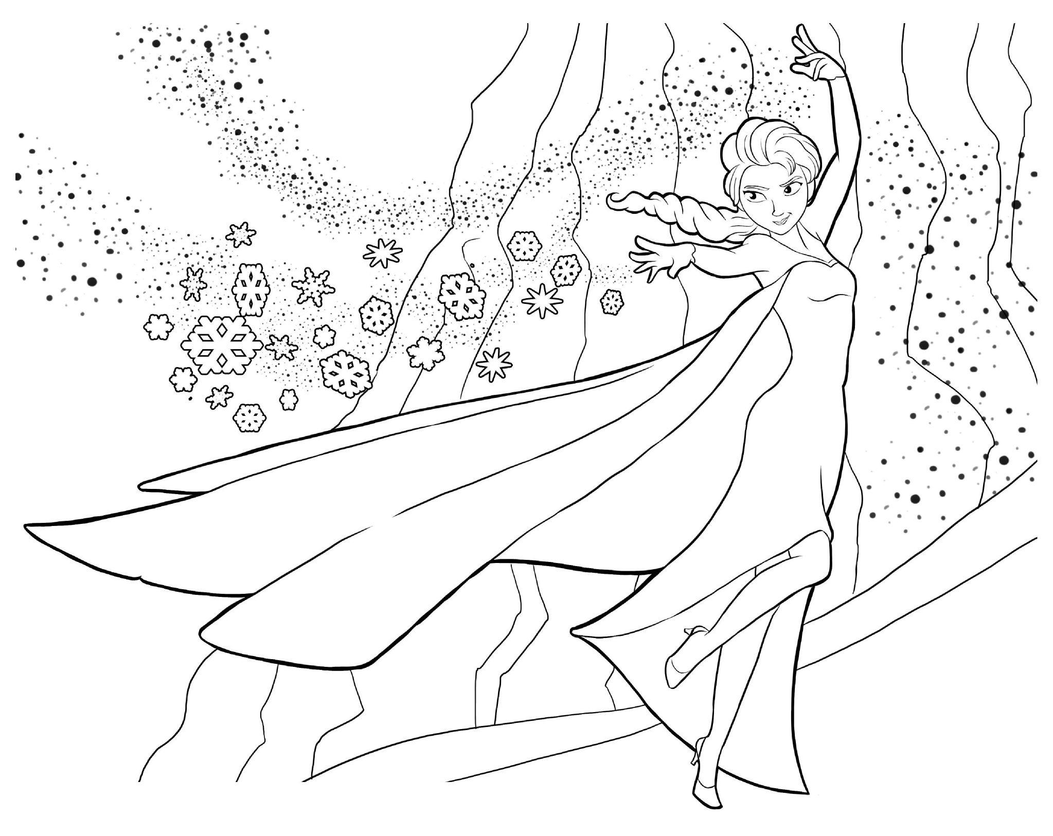 Coloriage La Reine Des Neiges (Si Si Avouez, Vous Êtes Fans pour Reine Des Neiges Dessin À Colorier