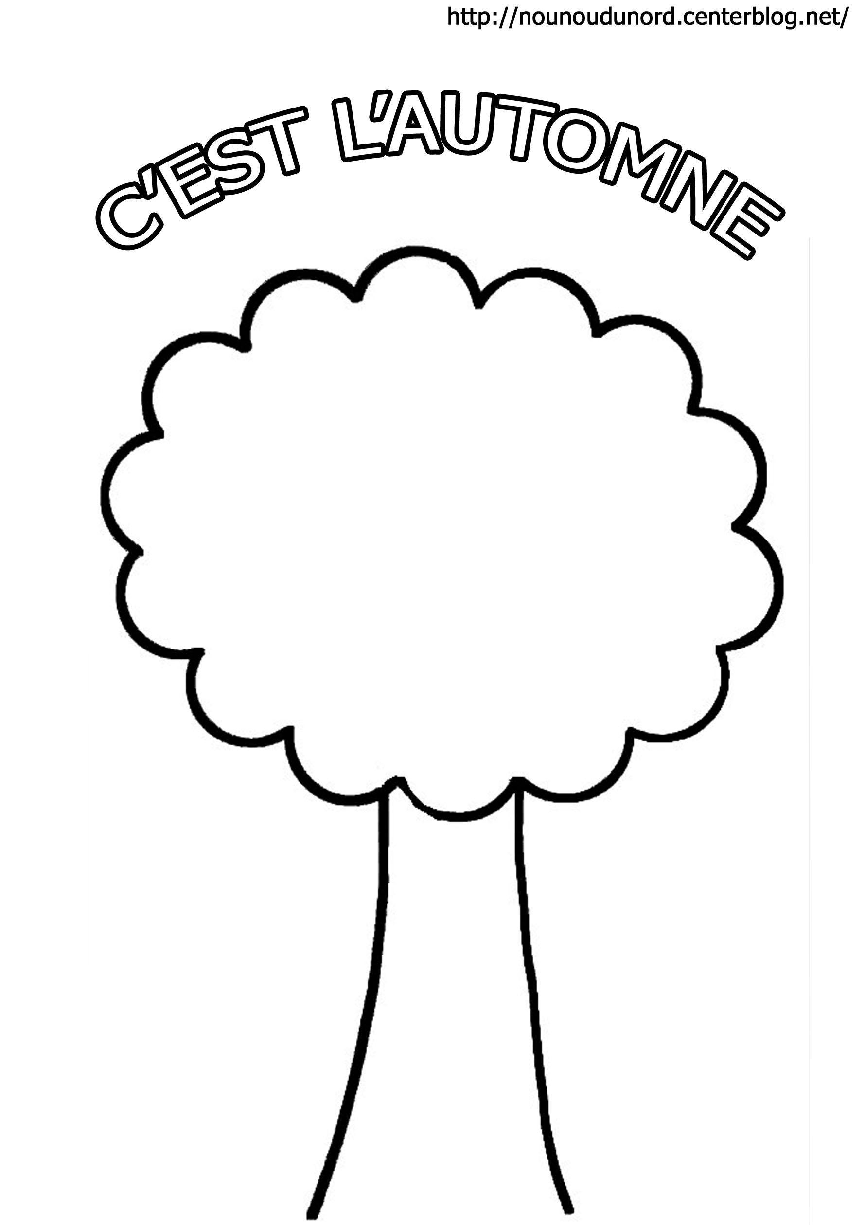 Coloriage L'arbre D'automne serapportantà Arbre A Colorier Et A Imprimer