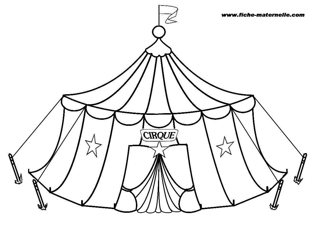 Coloriage : Le Cirque intérieur Coloriage Cirque Maternelle