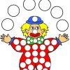 Coloriage Le Clown À Gommettes Et En Couleur | Coloriage intérieur Dessin De Clown En Couleur