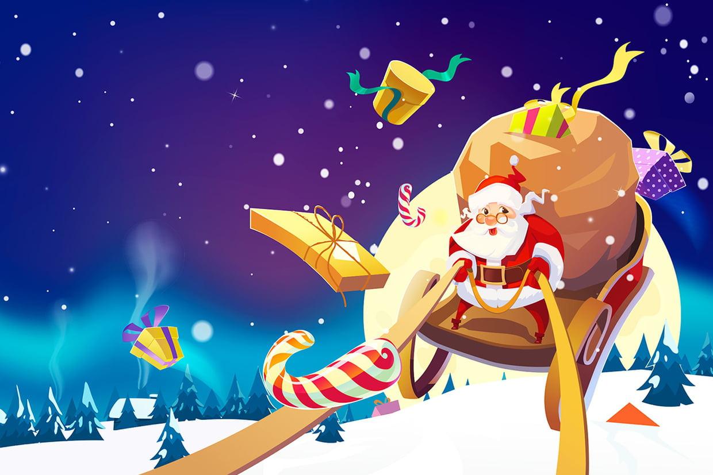 Coloriage Le Traineau Du Père Noël Sur Hugolescargot intérieur Dessin De Noel En Couleur A Imprimer
