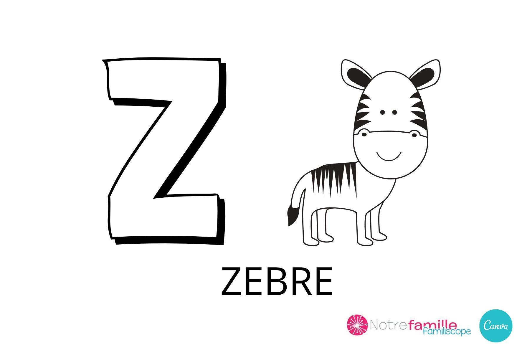 Coloriage Lettre Z À Imprimer tout Coloriage Alphabet Complet A Imprimer
