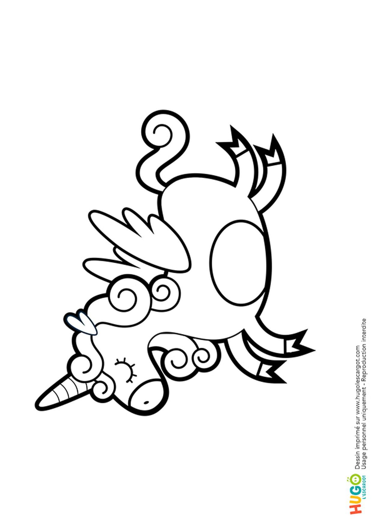 Coloriage Licorne Kawaii En Ligne Gratuit À Imprimer concernant Jeux De Coloriage Licorne