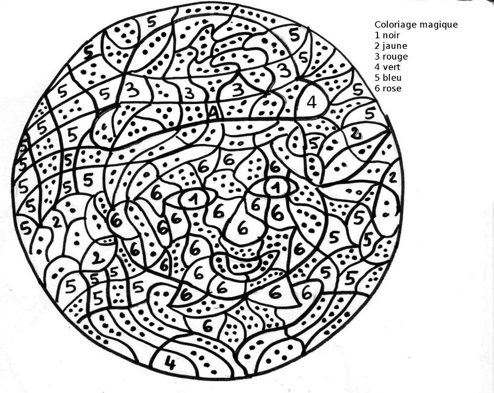 Coloriage Magique #56 (Éducatifs) – Coloriages À Imprimer intérieur Jeux De Coloriage Magique Cm1