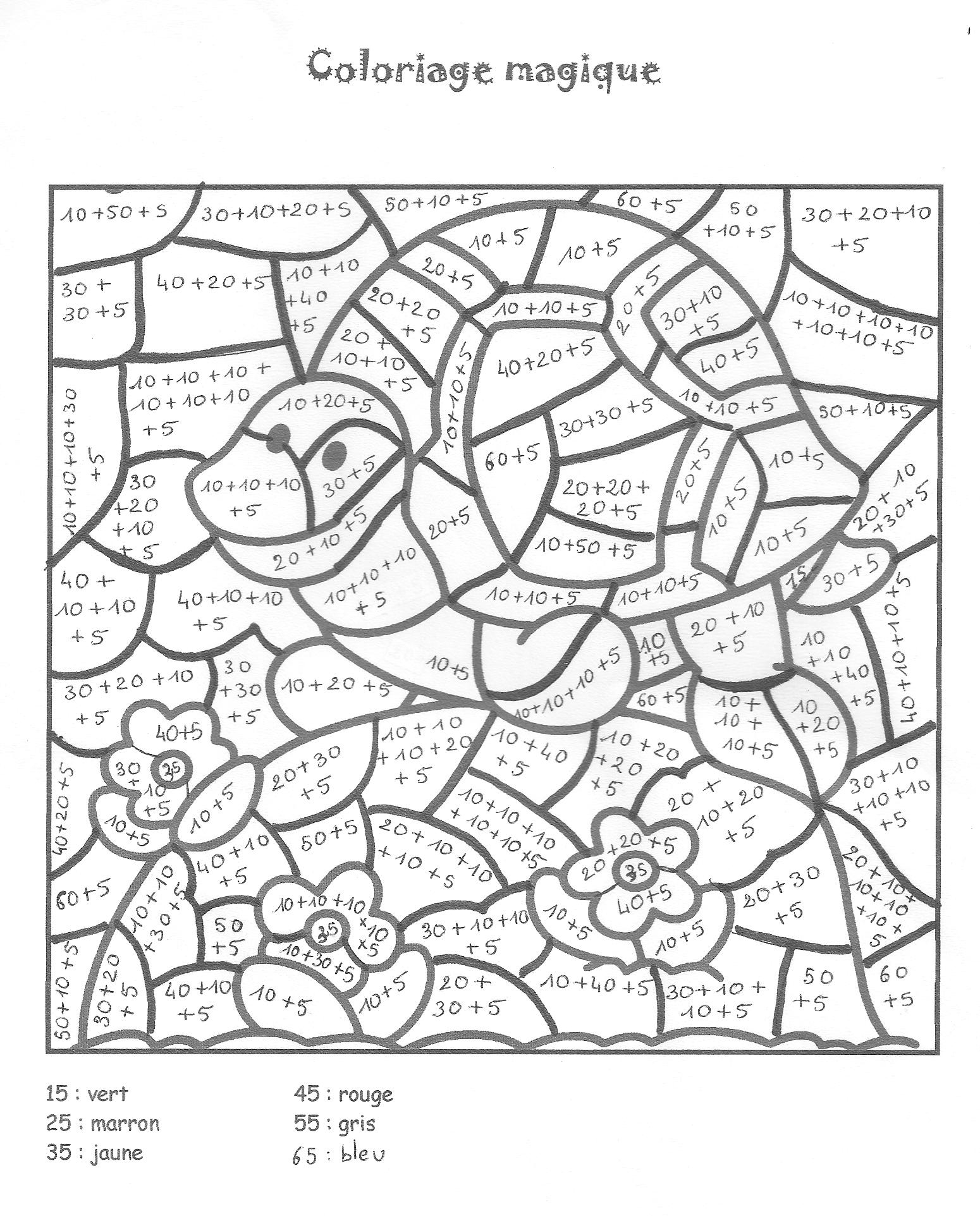 Coloriage Magique #7 (Éducatifs) – Coloriages À Imprimer serapportantà Coloriage Magique Pour Enfant