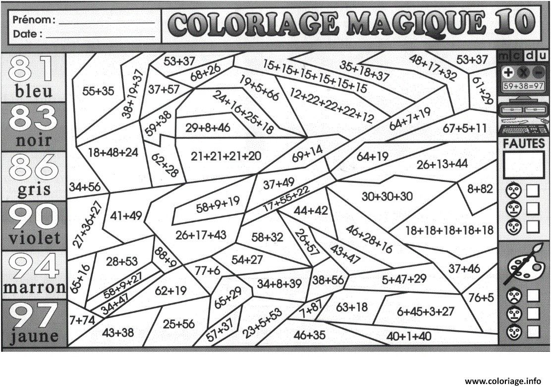 Coloriage Magique Calcul Mental #coloriagemagique In 2019 encequiconcerne Coloriage De Calcul