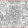 Coloriage Magique Cascade | A Co Destiné Coloriage Magique pour Coloriage Magique Gs Cp