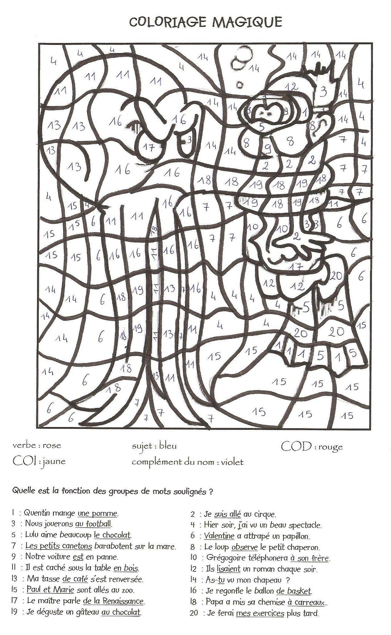 Coloriage Magique Ce2 À Colorier - Dessin À Imprimer intérieur Sudoku Cm2 À Imprimer