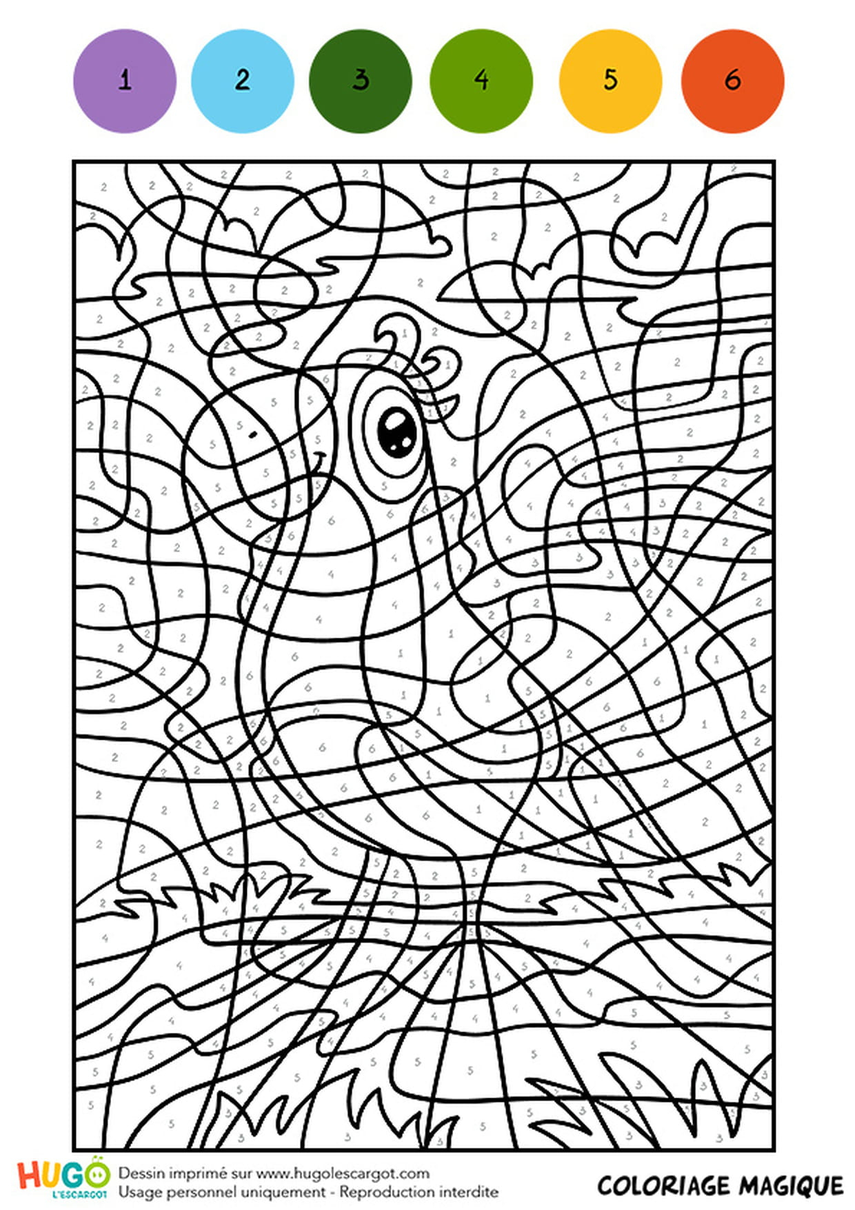Coloriage Magique Cm1, L'oiseau À L'écharpe Verte dedans Coloriage En Ligne Difficile