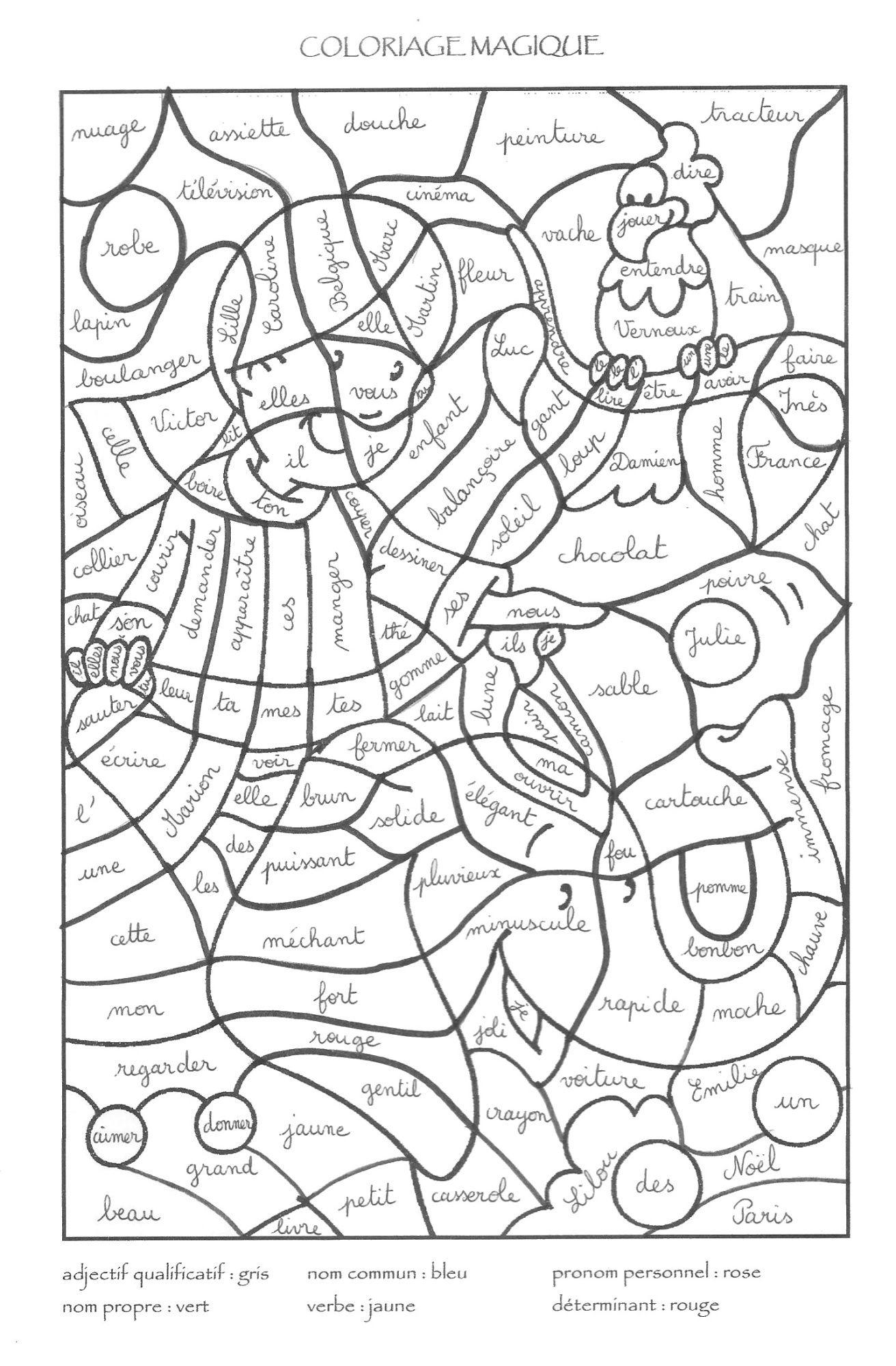 Coloriage Magique | Coloriage Magique Multiplication intérieur Jeux De Coloriage Magique Cm1
