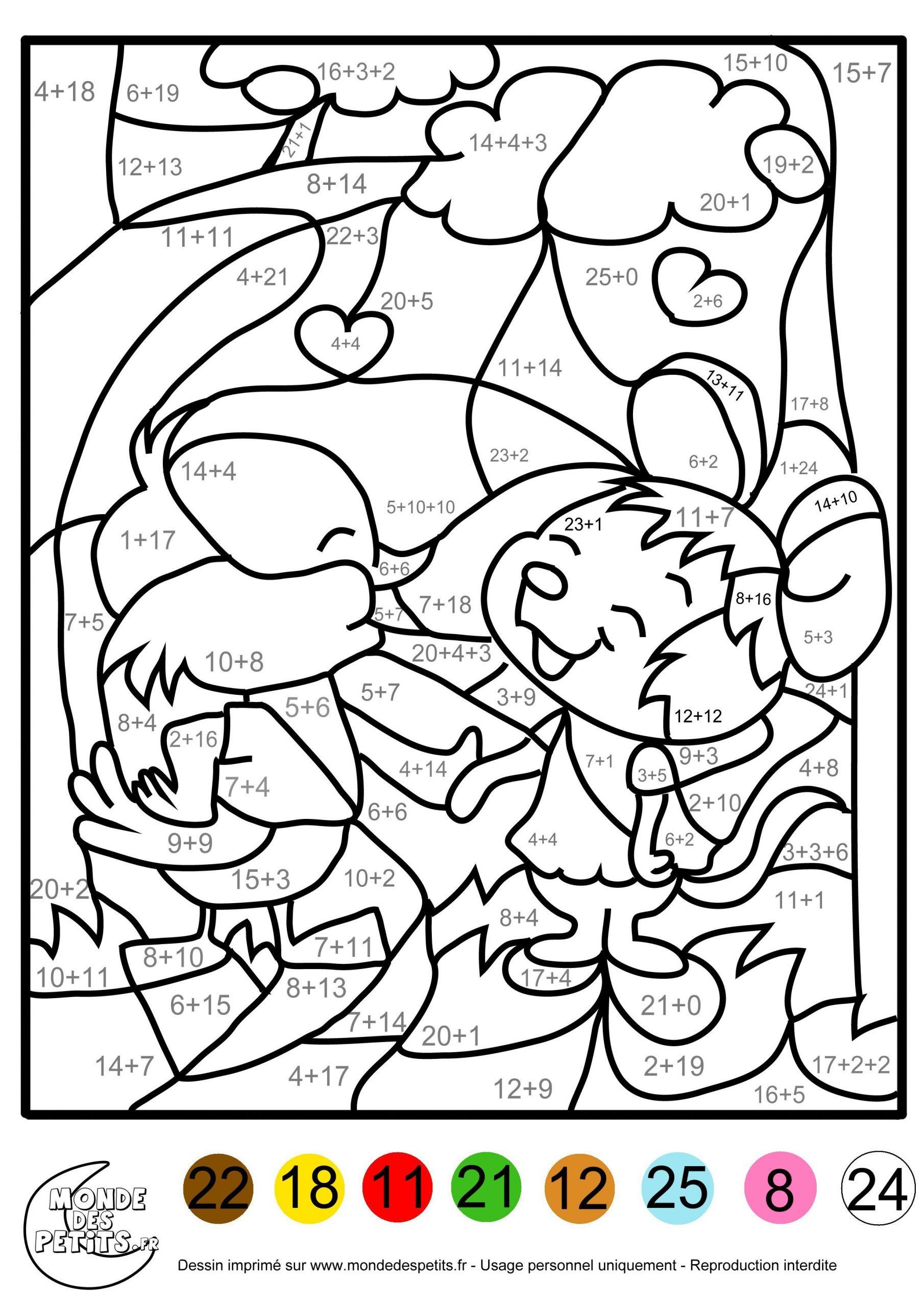 Coloriage Magique De Noel Ce2 A Imprimer Coloriage Magique tout Coloriage Moyenne Section À Imprimer
